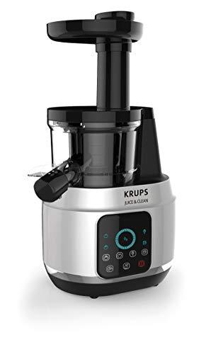 Krups Extractor de Jugos ZB420EMX Juice & Clean prensado en Frío, 150W y 4...