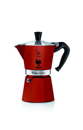 Bialetti Moka Cafetera espresso de color (6 tazas, burdeos)