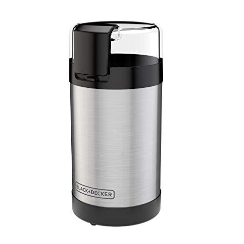 BLACK+DECKER Molinillo de café con control de botón pulsador, capacidad de 2/3...