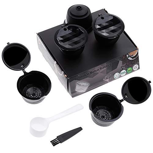 Lictin Version Mejorado Pack de 5 Cápsulas Filtros de café recargable...