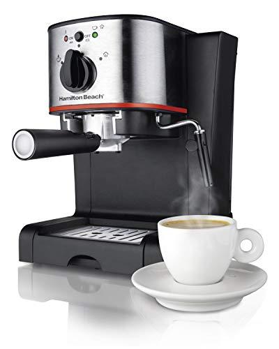 Hamilton Beach 40792 Cafetera Espresso de 2 Tazas, para Cappuccino y Mocha, con...
