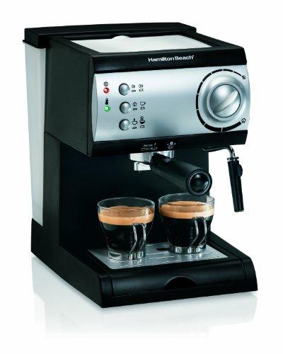Hamilton Beach 40715 Cafetera Espresso, 2 Tazas, Cappuccino, Mocha y Latte, 15...