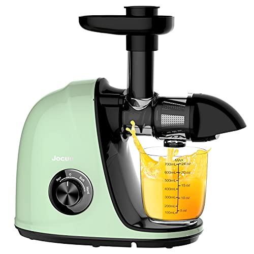 Jocuu - Exprimidor de jugo de masticación lenta fácil de limpiar, suave, duro,...