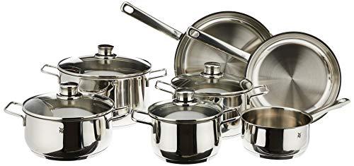 WMF - Batería de cocina, color plateado, Diadema de 11 piezas, Plateado, Nulo,...