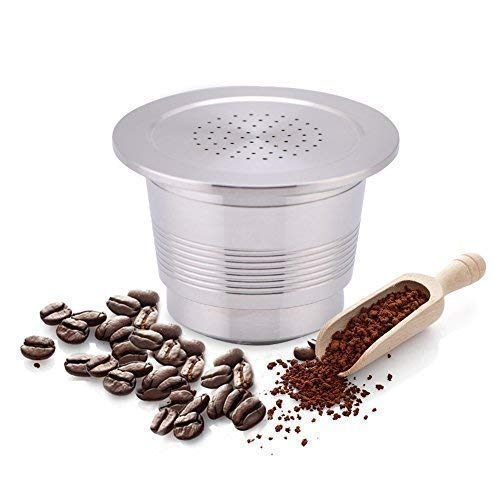 Yosoo Cápsulas Recargable Reutilizable de Café para Cafetera Cápsula de Acero...
