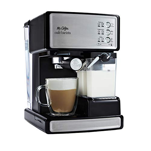 Mr coffee cafe barista eléctrica para expresso con espumador de leche automático