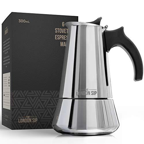 The London Sip Company - Cafetera de inducción de acero inoxidable para hacer...