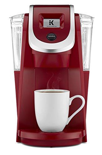 Keurig K250 K-Cup Cafetera de cápsulas individual, programable, negro, Rojo...