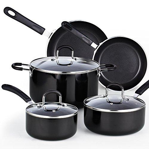 Cook N Home 024978Piece Heavy Gauge antiadherente utensilios de cocina Set,...