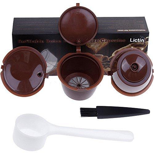 Lictin 3 Pack Cápsulas Filtros de Café Recargable Reutilizable para Cafetera...