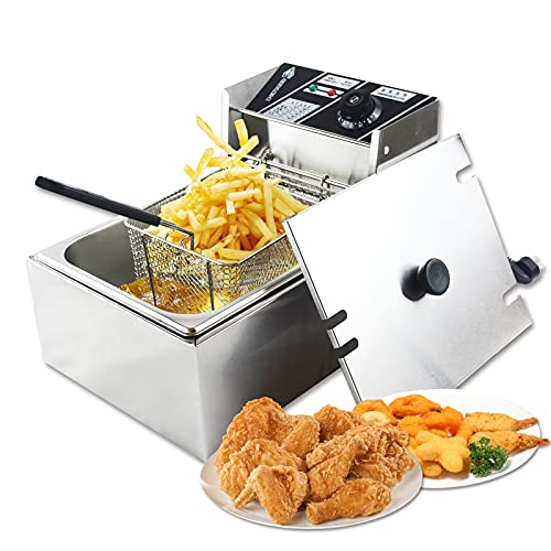 Maquina de papas fritas 6L freidora profesional para restaurantes o comercios....