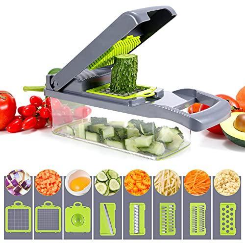 Picadora de verduras, picadora de verduras multifuncional, con 6 cuchillas de...