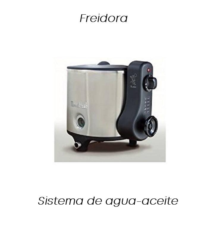 tipos de freidoras eléctricas: freidora de agua y aceite