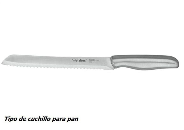 tipo de cuchillo de cocina para pan