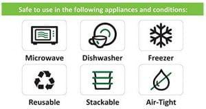 etiquetas en los recipientes de cocina