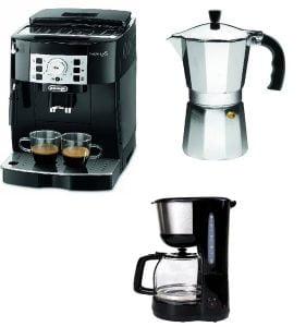 electrodomésticos baratos - tipos de cafeteras