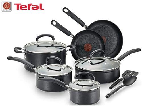 batería de cocina tefal de titanio 12 piezas