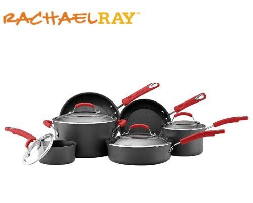 batería de cocina rachael ray negra
