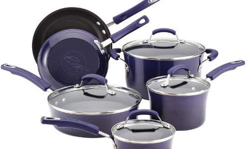 batería de cocina rachael ray purpura