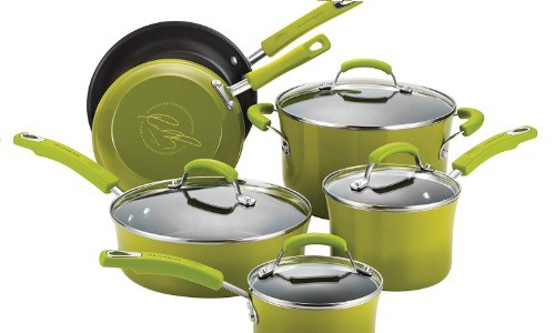 batería de cocina rachael ray verde