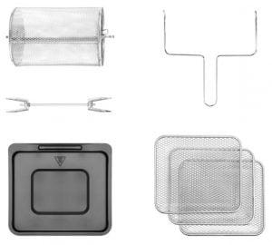 freidora de aire chefman 10 litros accesorios